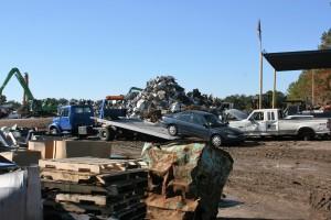 Recycling yard